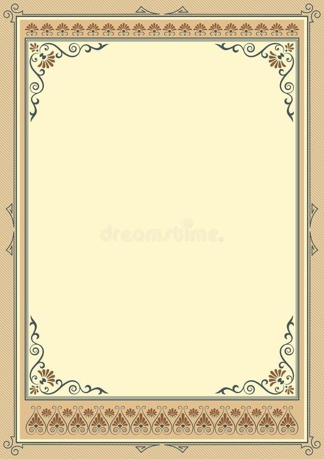 Богато украшенные прямоугольные рамки иллюстрация штока