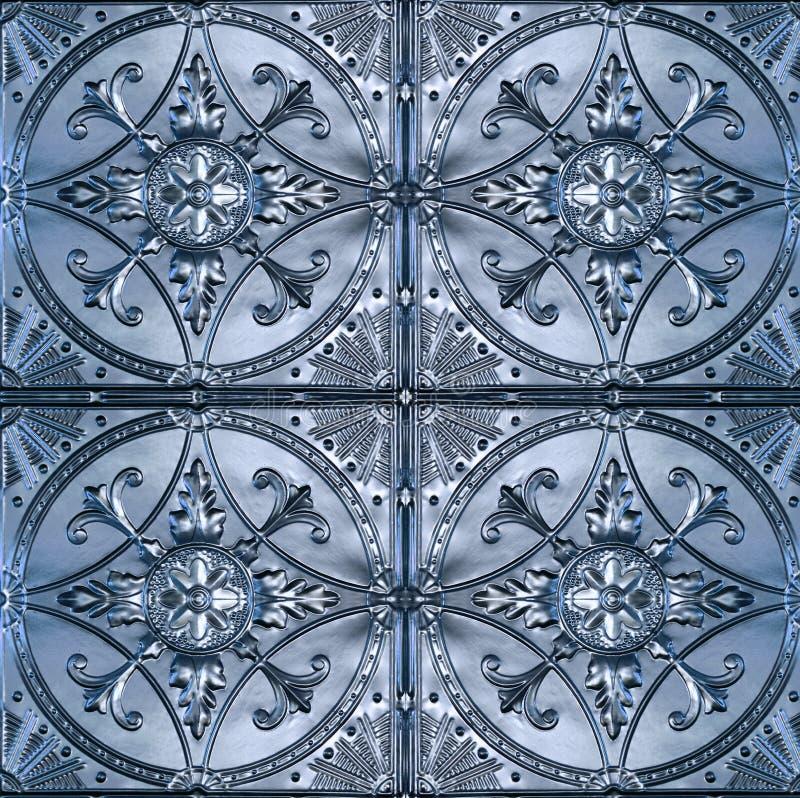 Богато украшенные плитки потолка олова стоковое фото rf