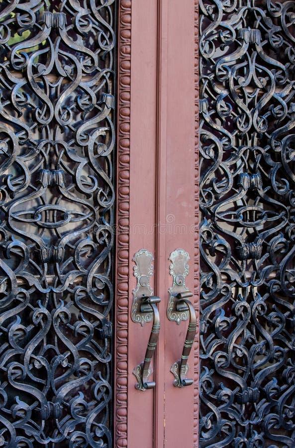 Богато украшенный двери стоковое фото rf