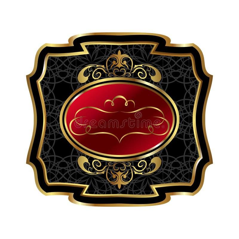 богато украшенный декоративной рамки золотистое иллюстрация вектора