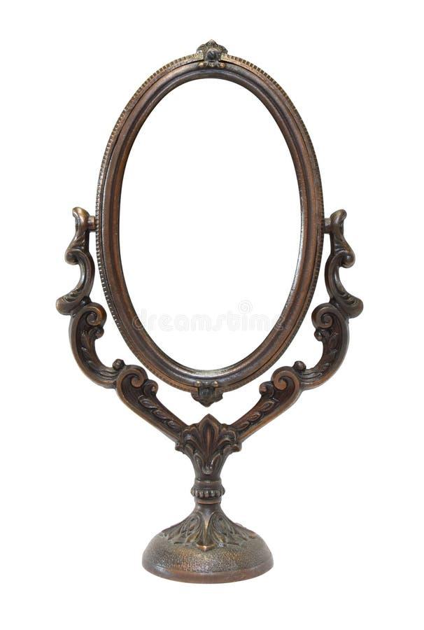 богато украшенный зеркала старое стоковое фото rf