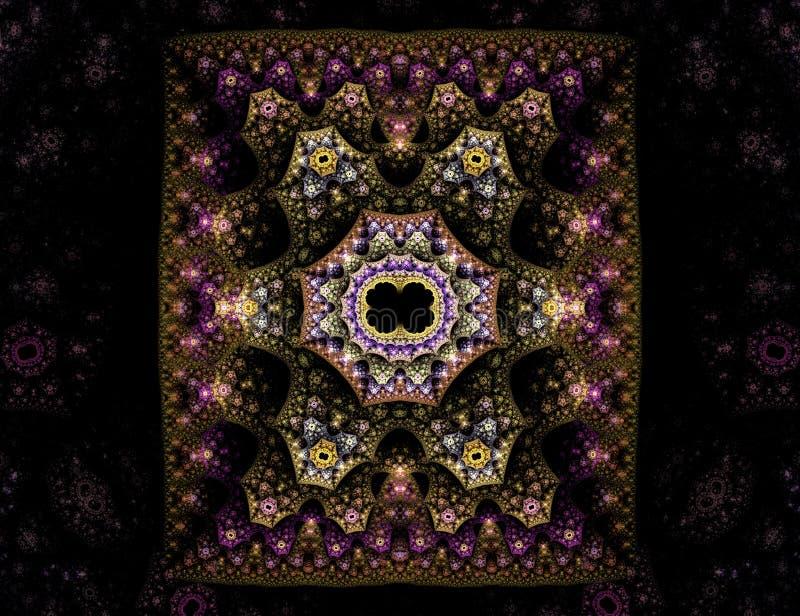 богато украшенный ковра востоковедное иллюстрация вектора