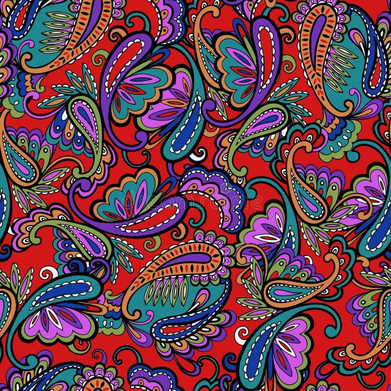 богато украшенный печать paisley иллюстрация штока