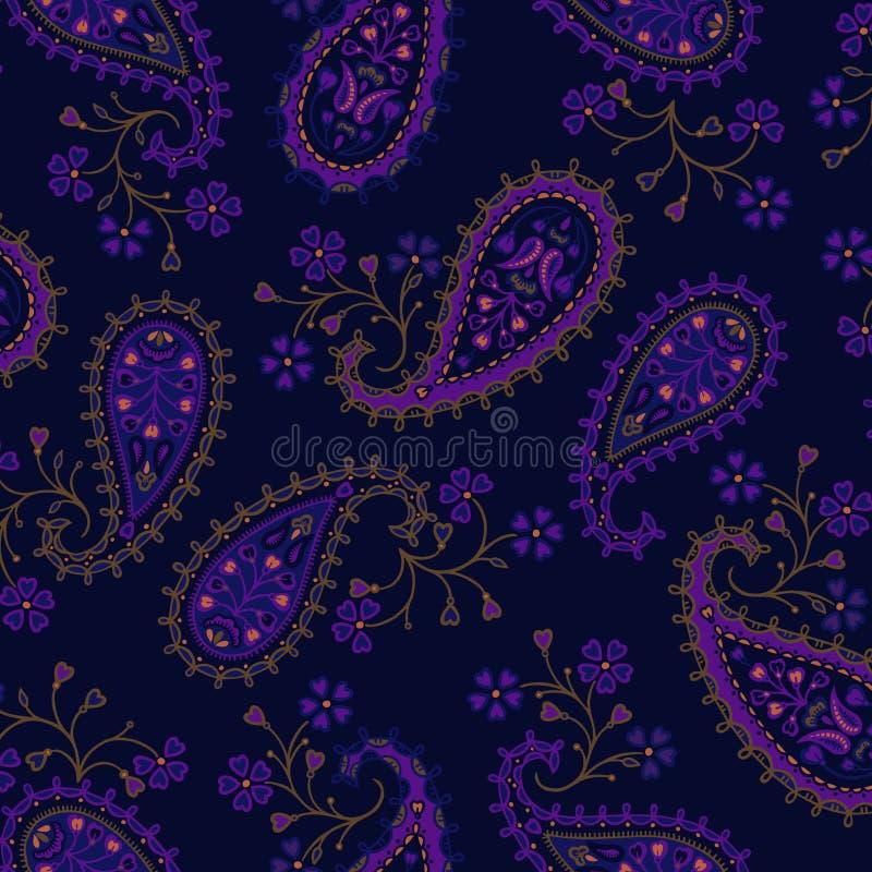 богато украшенный печать paisley бесплатная иллюстрация