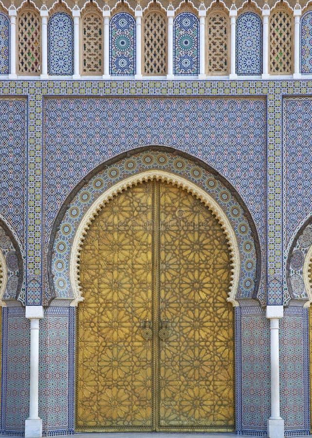 Морокканский королевский дворец стоковые изображения