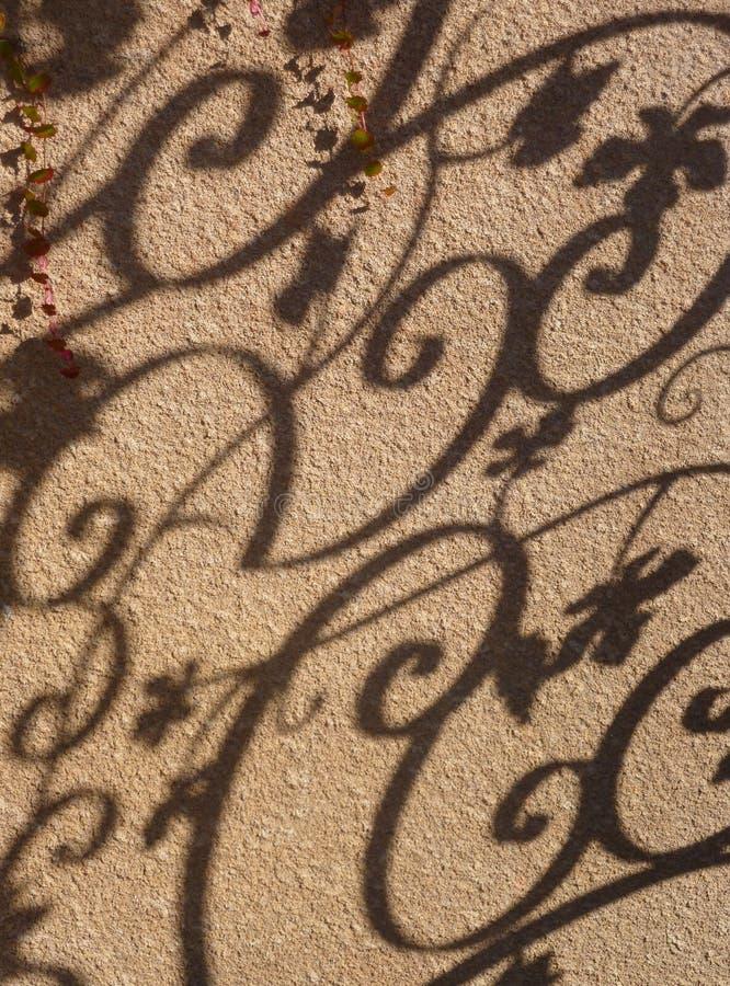 богато украшенный тень стоковое изображение