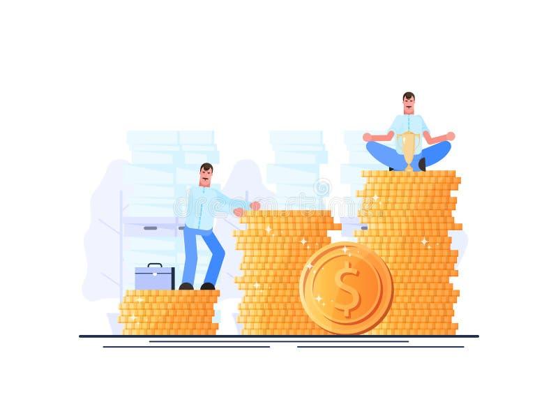 Богатство E Финансовая независимость Эффективное управление r r иллюстрация штока