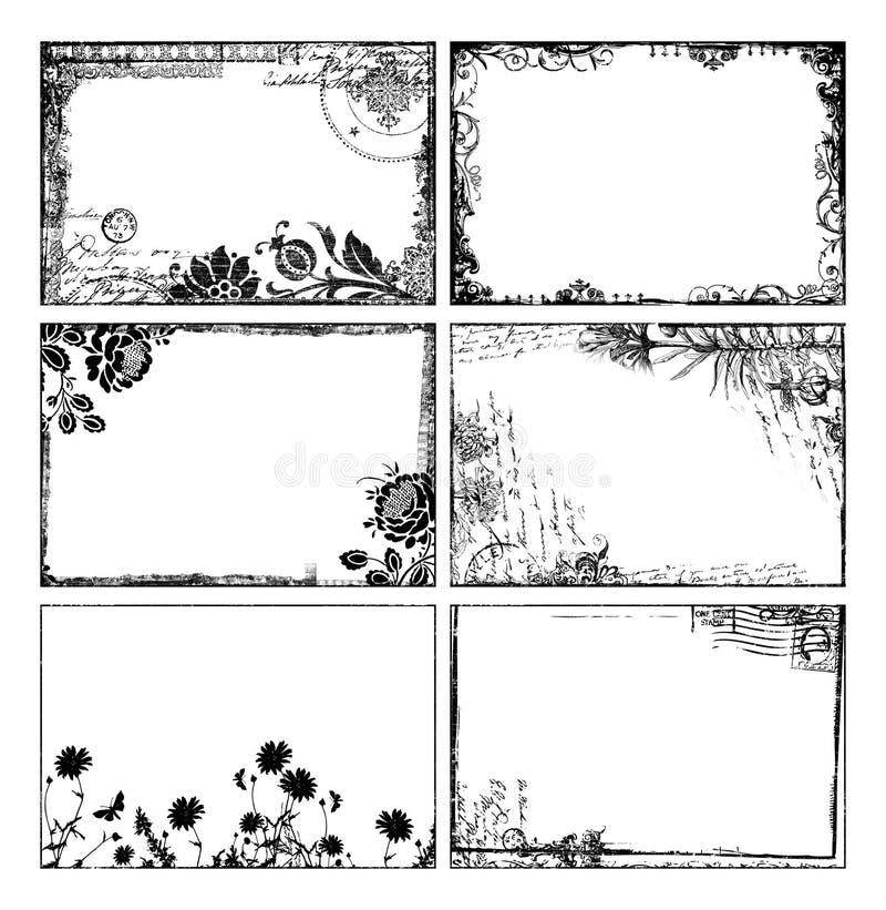 богемские флористические рамки иллюстрация вектора