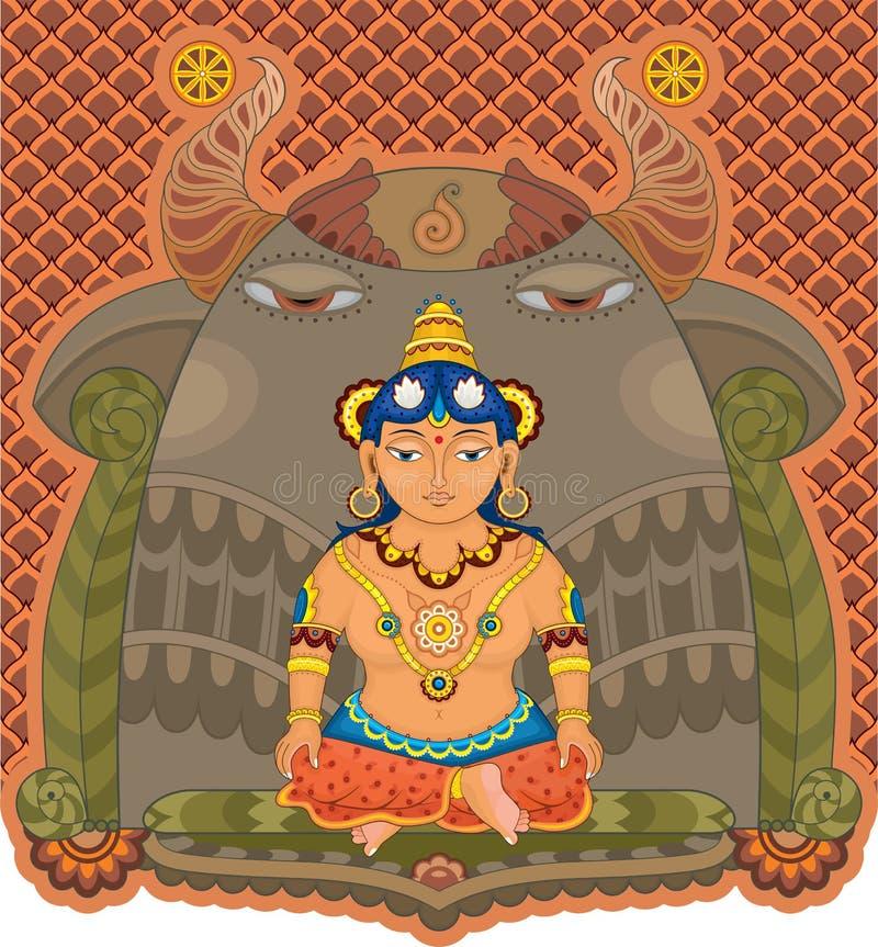 Богина Индии девушки бесплатная иллюстрация