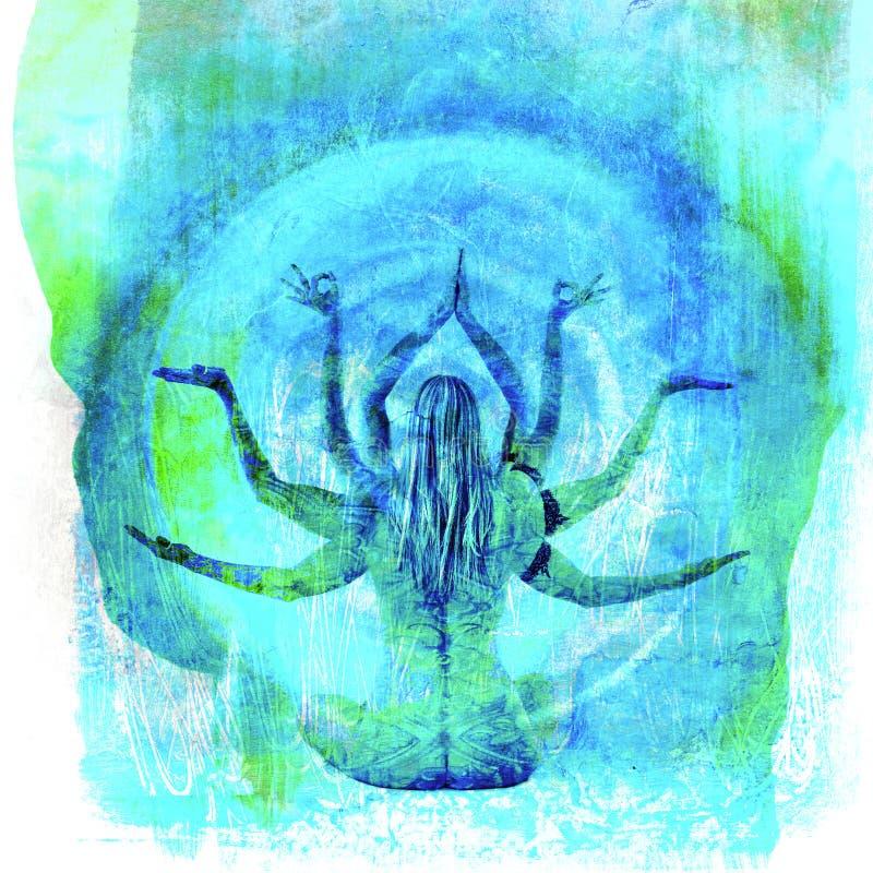 Богина йоги иллюстрация штока