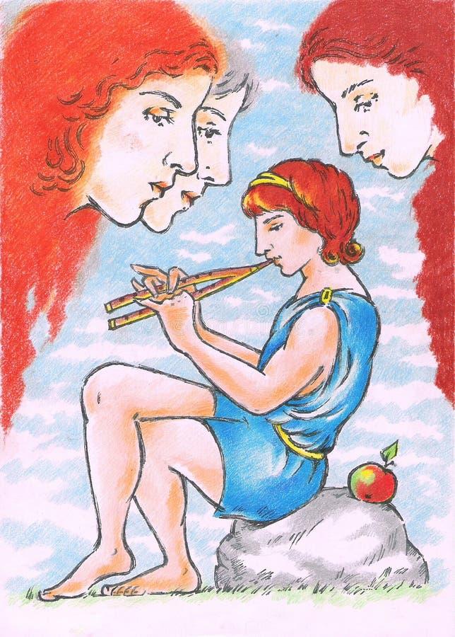 богина яблока иллюстрация вектора