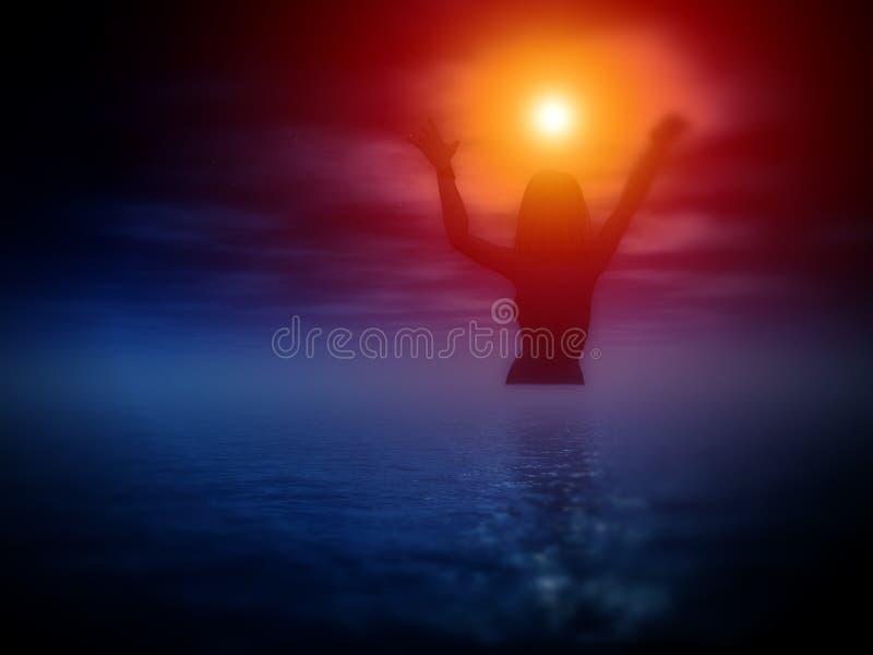 Богина 18 моря иллюстрация штока