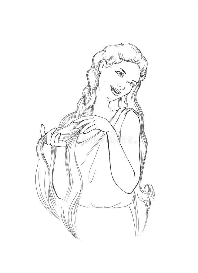 богина иллюстрация штока