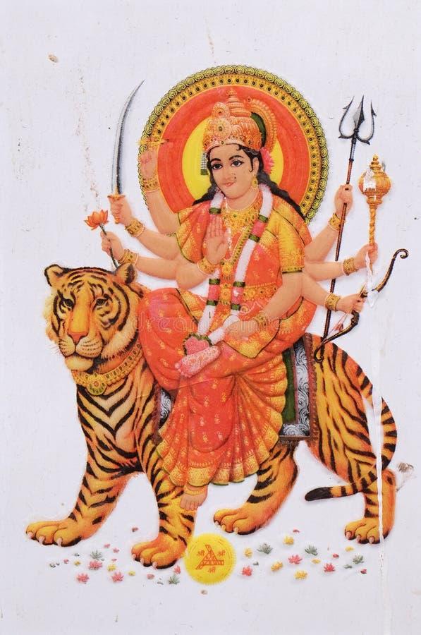 богина durga индусская бесплатная иллюстрация