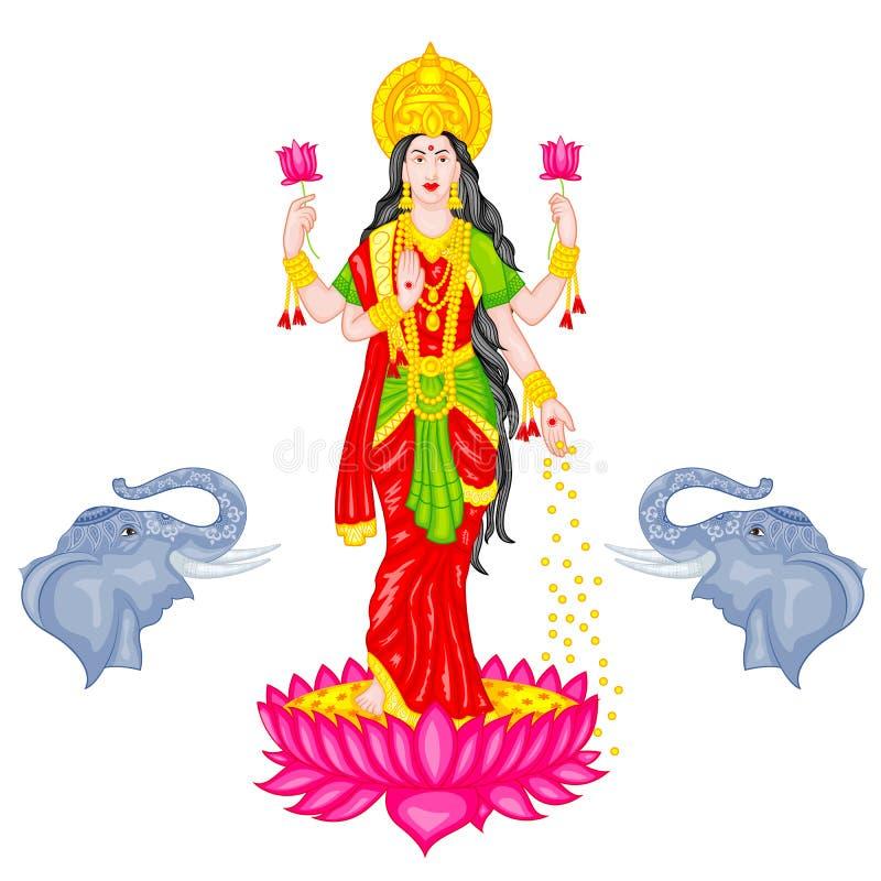 Богина Lakshmi иллюстрация вектора