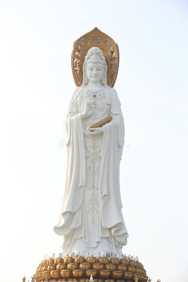 Богиня статуи пощады на взморье в nanshan виске, острове Хайнаня стоковые изображения rf