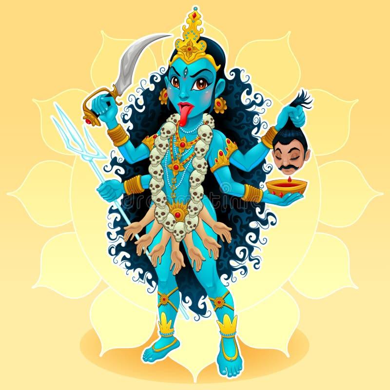 Богиня Kali иллюстрация вектора