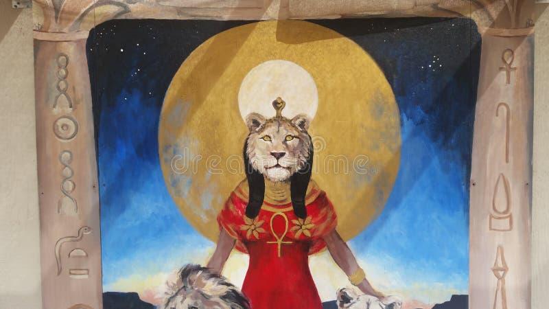 Богиня Sekhmet стоковое изображение