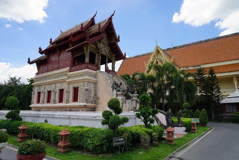 Бог буддизма виска Wat Phra Singh Чиангмая Будды Таиланда стоковое фото rf