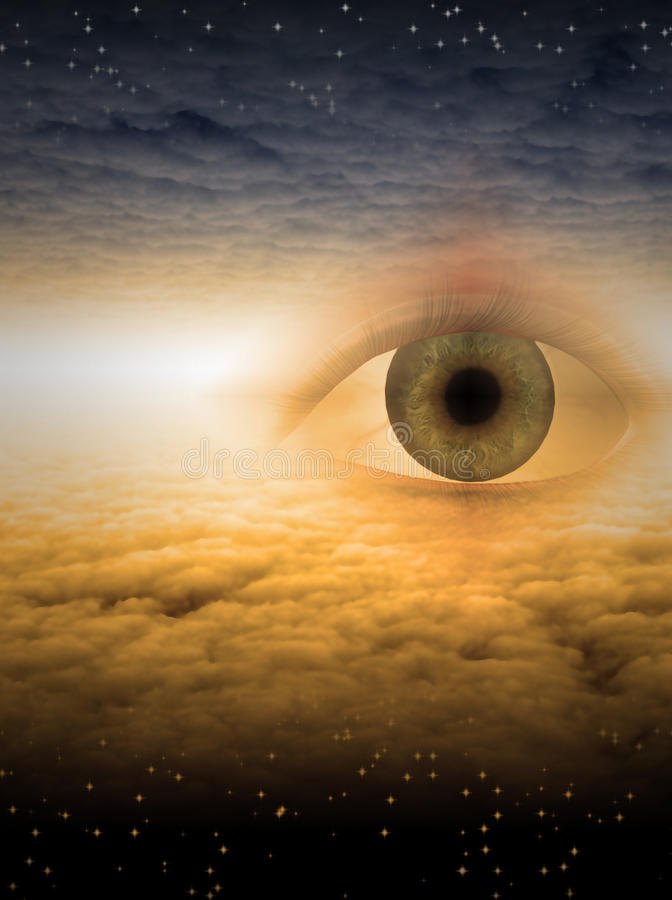 бог глаза иллюстрация штока