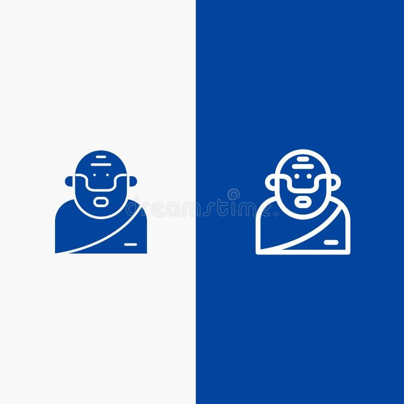 Бог, грек, мифология, значка линии и глифа знамени старого значка линии и глифа твердого знамя голубого твердого голубое бесплатная иллюстрация