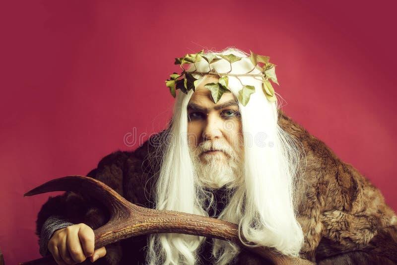 Бог Зевса с antlers стоковые фото