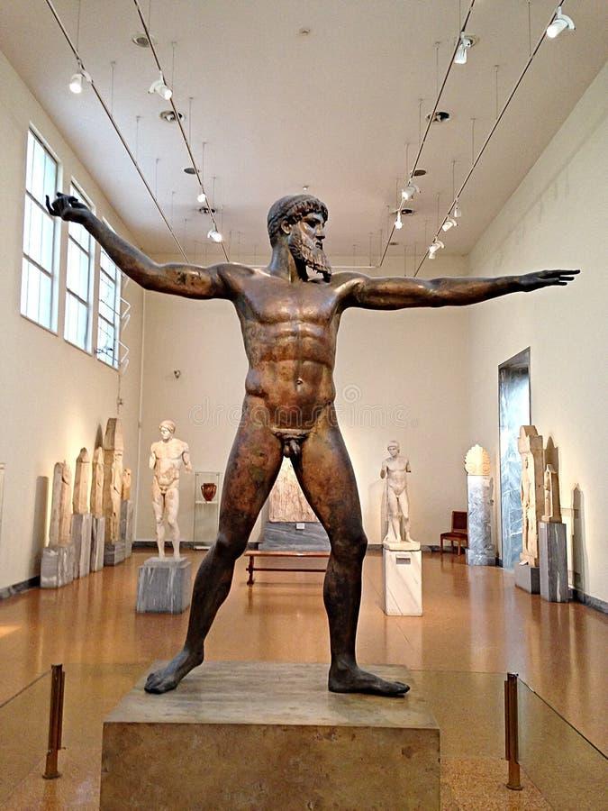 Бог Зевса стоковое изображение