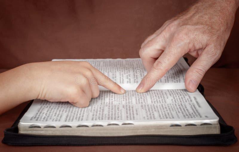 бог изучая слово стоковое фото