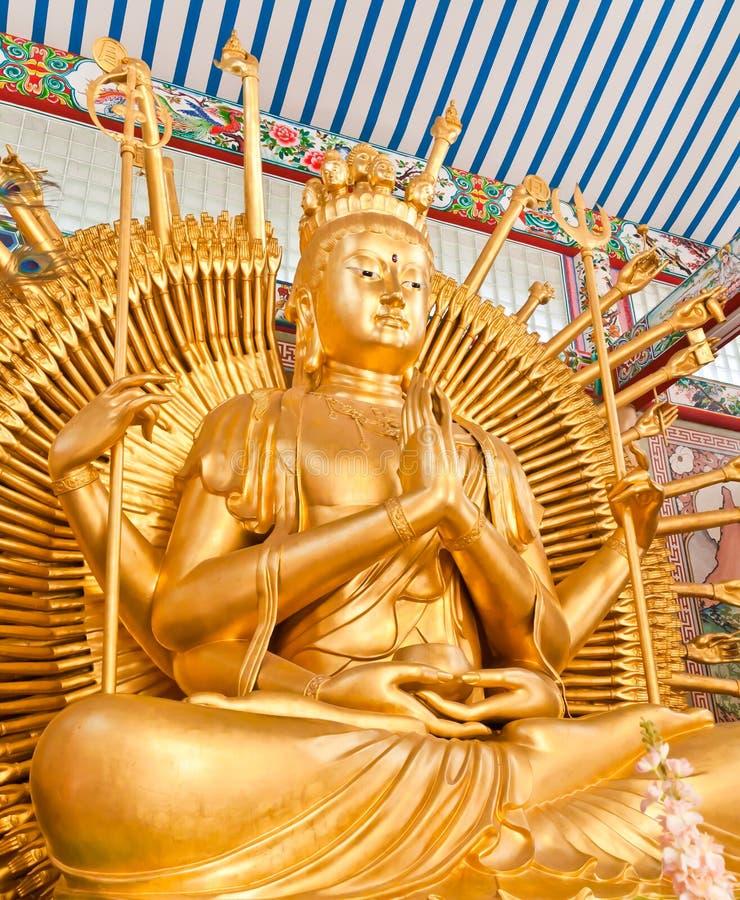 Бог китайского kuan Yin стоковое изображение