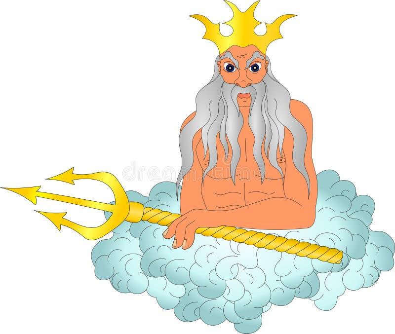 Бог моря иллюстрация вектора