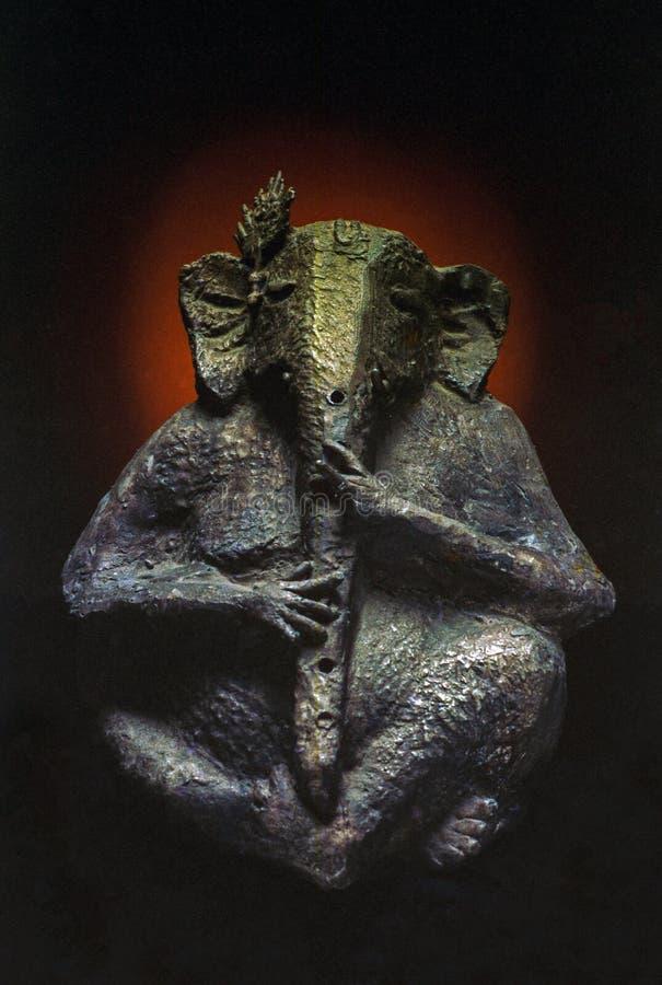 Бог слона лорда Ganesh скульптуры искусства главный стоковые фотографии rf