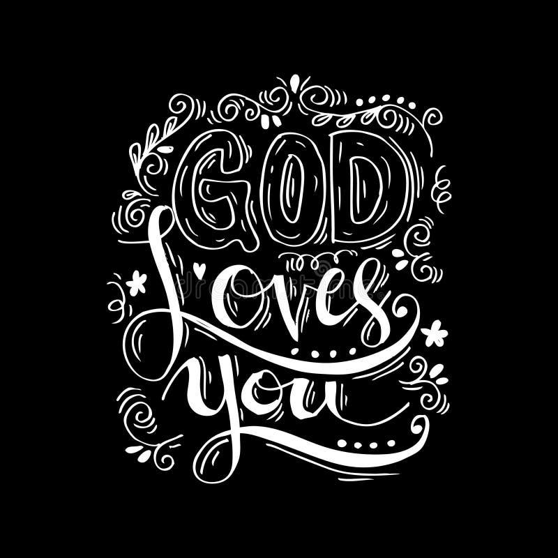 Бог любит вас иллюстрация штока