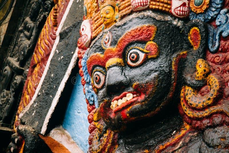 Бог Bhairav индусский стоковые изображения rf