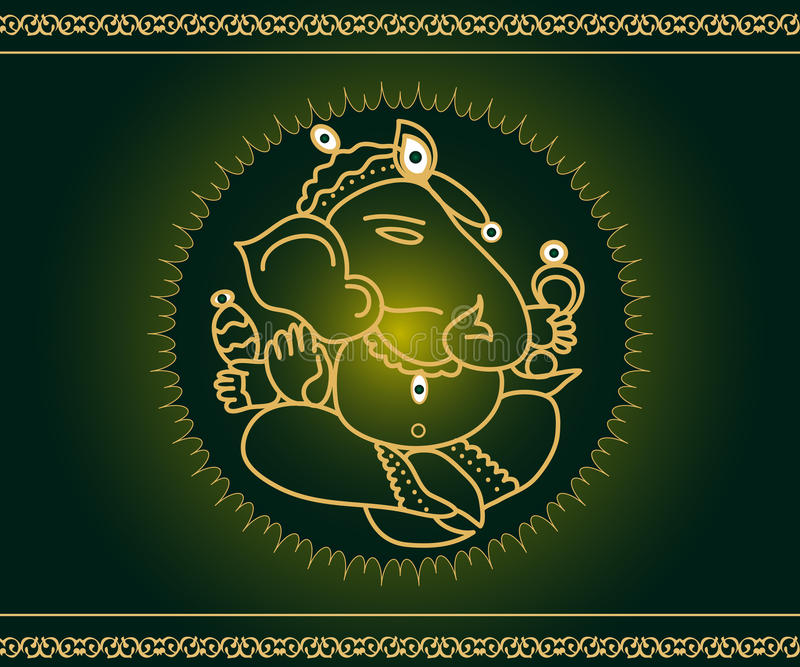 бог ganesha иллюстрация вектора