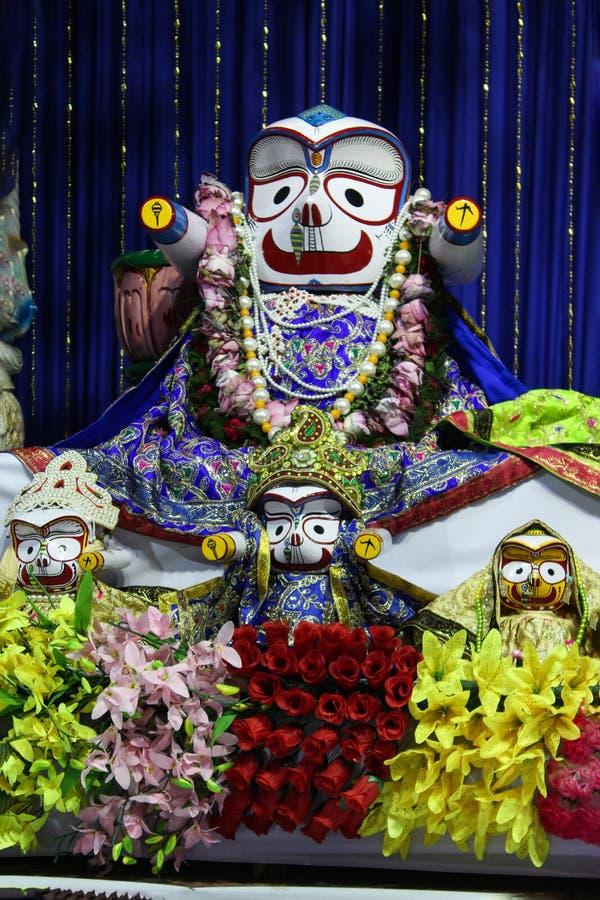 Бог Shri Jagannath во время rathyatra стоковое фото rf