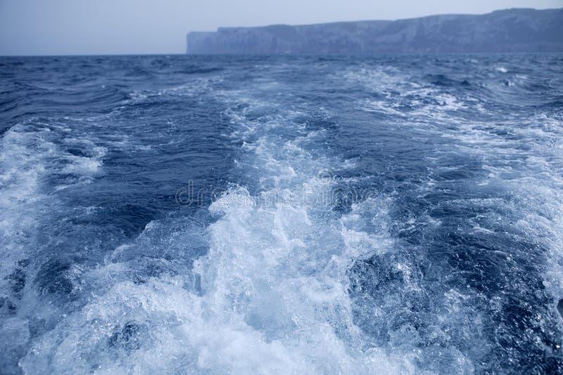 бодрствование корабля san плащи-накидк шлюпки antonio стоковая фотография rf