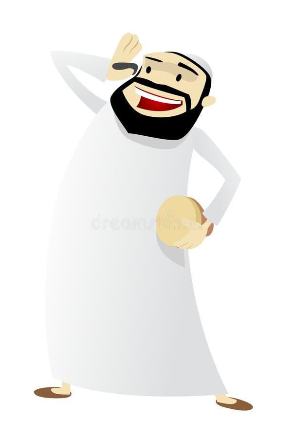 бодрствование mesaharati человека характера ramadan поднимающее вверх бесплатная иллюстрация