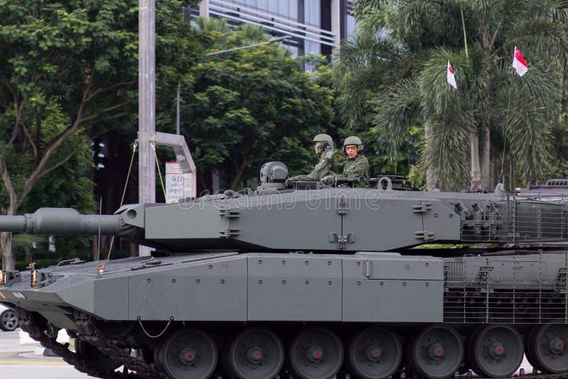 Боевой танк леопарда 2SG главный стоковые фото