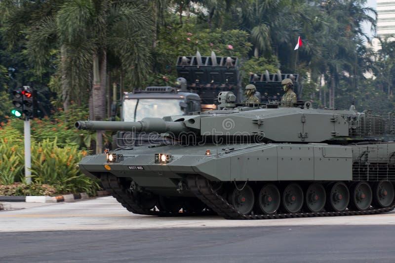 Боевой танк леопарда 2SG главный стоковая фотография