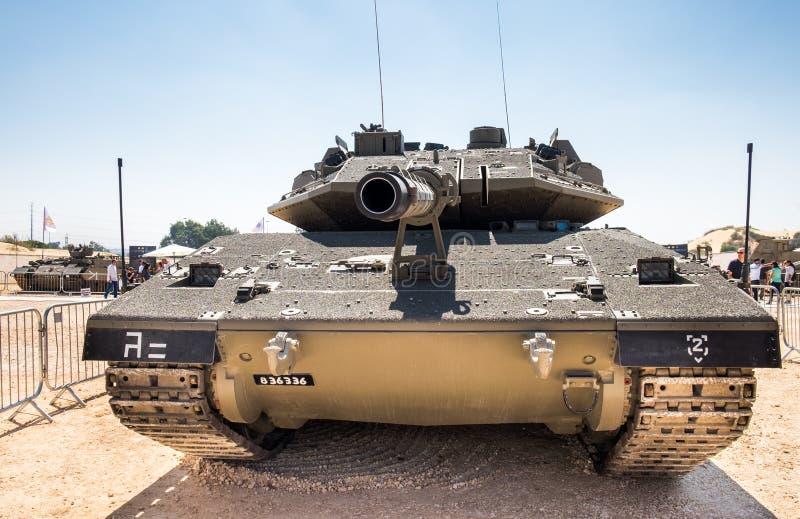 Боевой танк основы сил обороны Merkava IV Израиль стоковые изображения rf