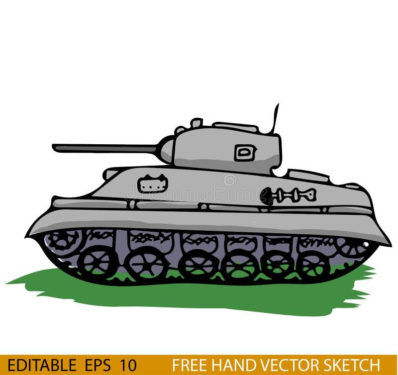 Боевой танк стиля Второй Мировой Войны бесплатная иллюстрация
