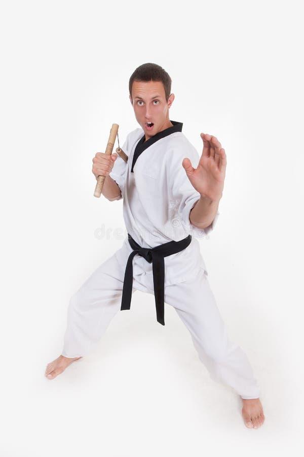 Боец боевых искусств стоковая фотография