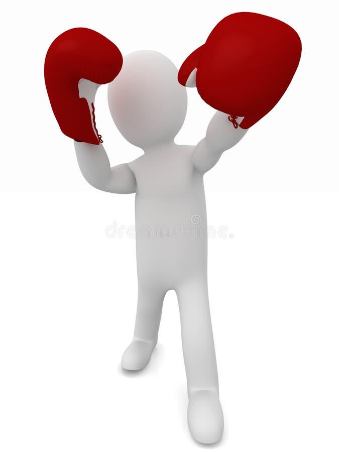 Боец боксера бесплатная иллюстрация