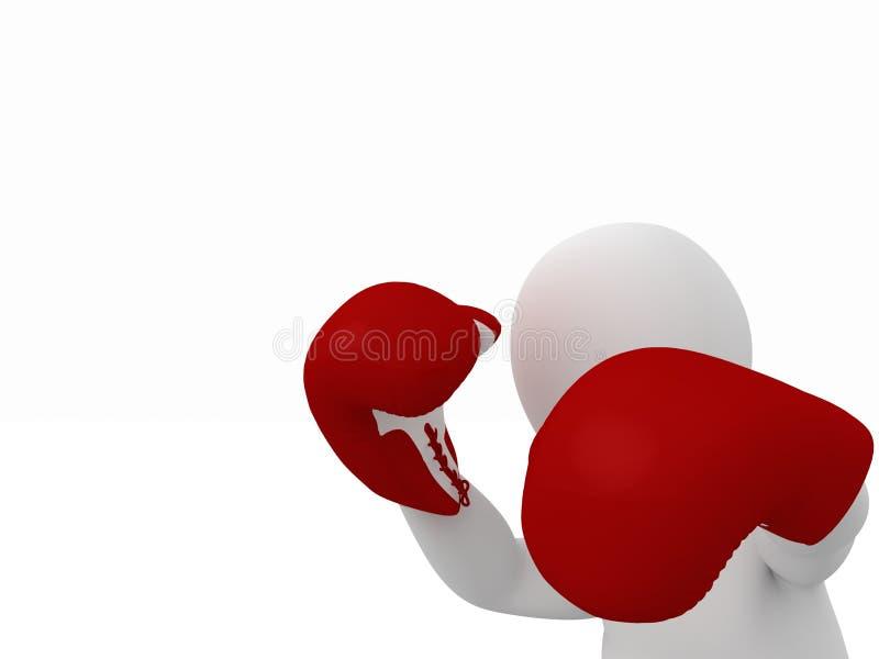 Боец боксера иллюстрация вектора