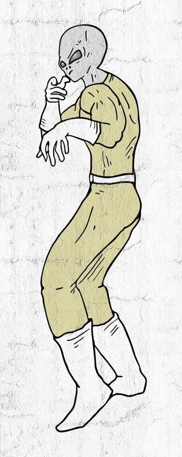 Боец чужеземца иллюстрация вектора