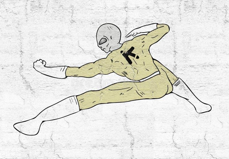 Боец чужеземца бесплатная иллюстрация