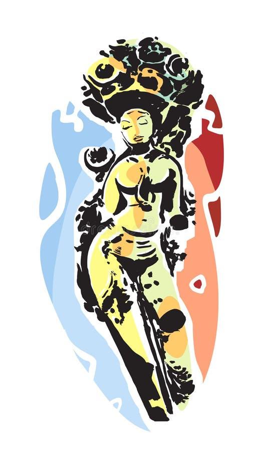 Божественное Devi бесплатная иллюстрация