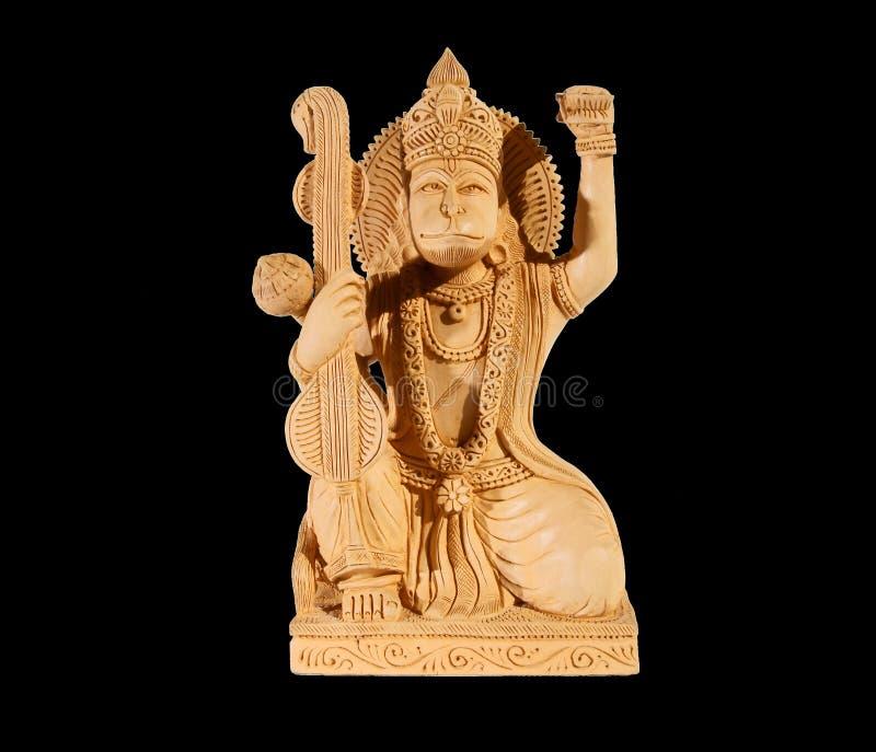 божество hanuman Индия предпосылки черное стоковая фотография