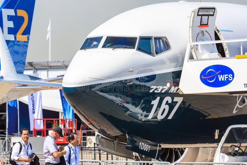 Боинг 737-9 Макс стоковое изображение rf