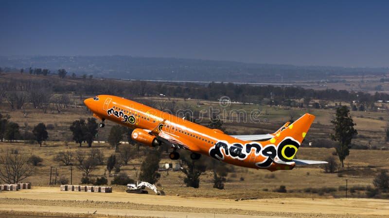 Боинг 737-8BG - Манго - ZS-SJO стоковое фото